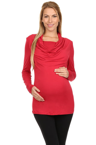 Bellisa Drape Nursing Top Long Sleeves - BellyMoms Maternity