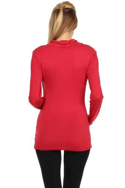 Callie Drape Neck Nursing Top Long Sleeves - BellyMoms Maternity