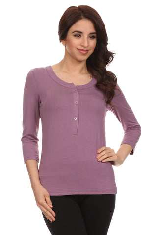 Charlotte Henley 3/4 Sleeves Nursing Top