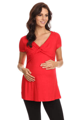 Mila Knot Front Nursing Top - BellyMoms Maternity