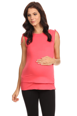 Mara Layered Sleeveless Nursing Top - BellyMoms Maternity