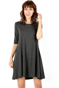Cate Half Sleeve Swing Maternity Tunic - BellyMoms Maternity