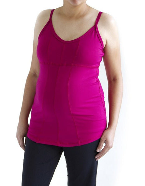 Bamboo Cotton Maternity Tank with Support Bra - BellyMoms Maternity
