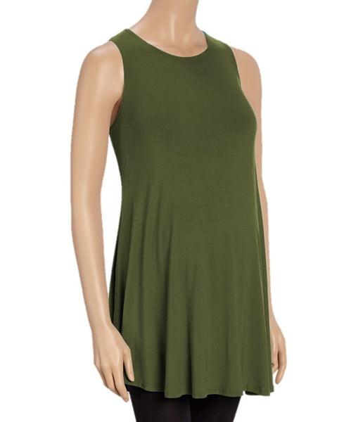 Caroline Sweep Maternity Tunic Tank Top - BellyMoms Maternity