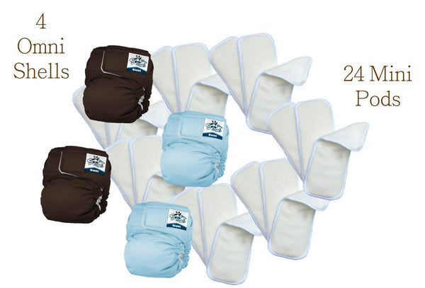 Softbums Omni Newborn Baby Cloth Diapers - Booster Pack - BellyMoms Maternity