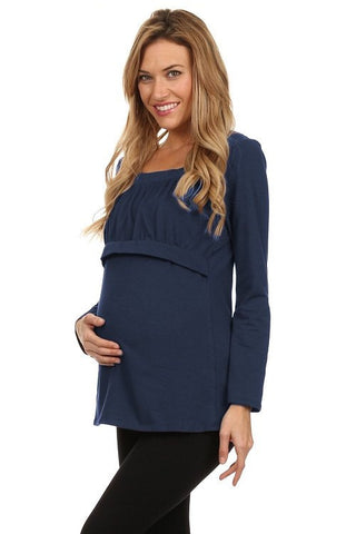 Alex Empire Long Sleeve Nursing Top - BellyMoms Maternity