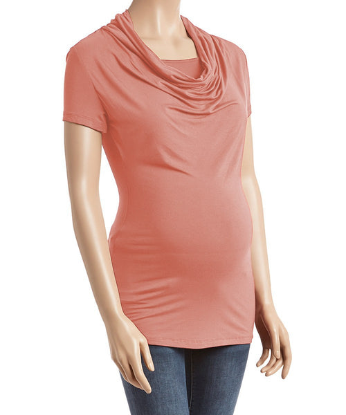 Bellisa Drape Nursing Top - Short Sleeves - BellyMoms Maternity