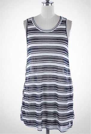 Striped Maternity Tank Top/Cover Up - BellyMoms Maternity