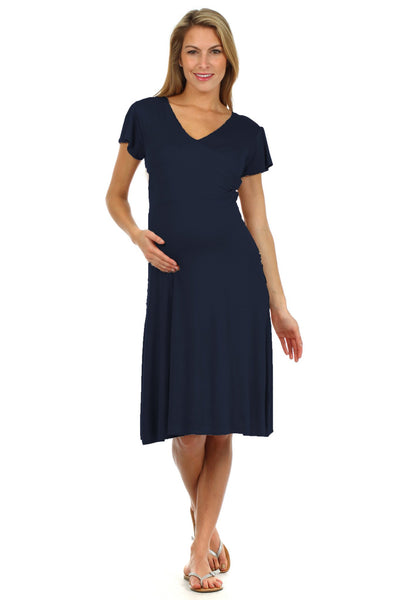 Angelina Crossover Nursing Dress - BellyMoms Maternity