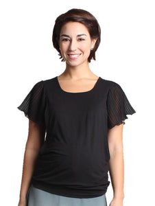 Pierette Short Sleeve Maternity Top - BellyMoms Maternity