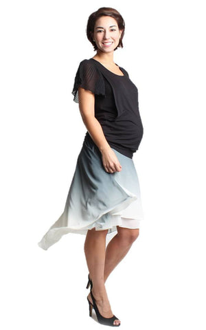 Pierette Short Sleeve Maternity and Nursing Top - BellyMoms Maternity