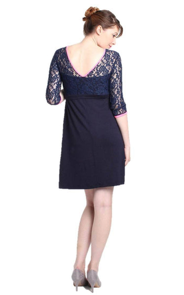 Fancy Rue Lace 3/4 Sleeve Maternity and Nursing Formal Dress - FINAL SALE - BellyMoms Maternity