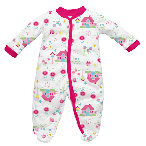 iPlay Printed Organic Cotton Knit Infant Long Sleeve Footie - BellyMoms Maternity