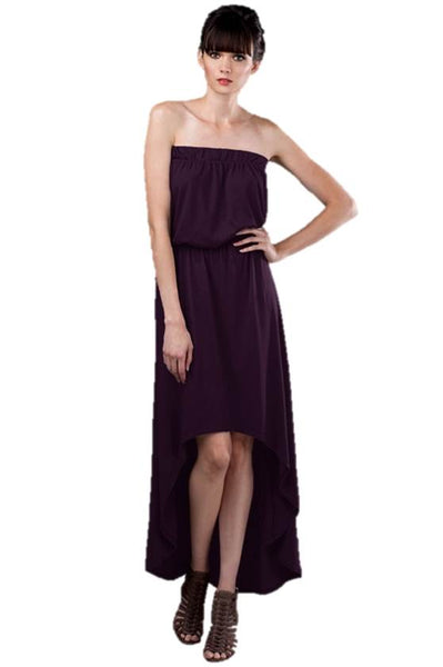 Fiona Jersey High Low Maternity Nursing Strapless Dress