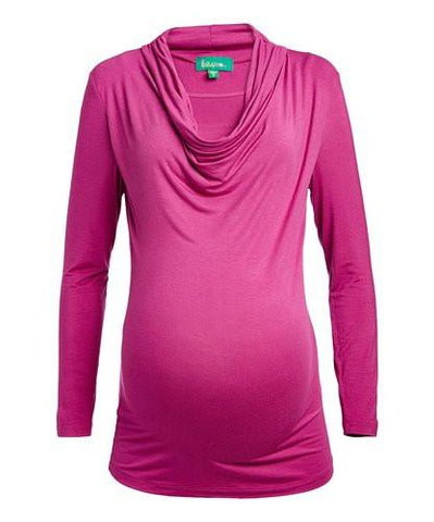 Callie Drape Neck Nursing Top Long Sleeves