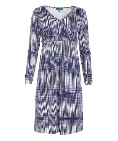 Jenny Stripe Surplice Neck Nursing Dress - BellyMoms Maternity