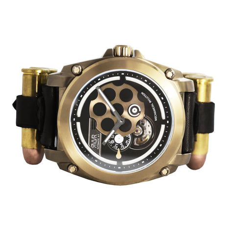 Model A7-C.Z (Brass) Automatic-45mm w/Bullet Straps
