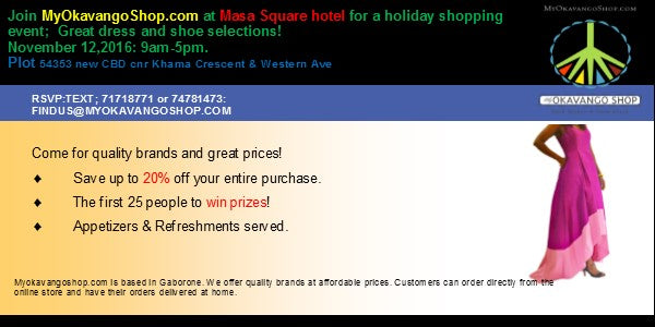 Holiday Shopping Event November 12, 2016 at Masa Square hotel