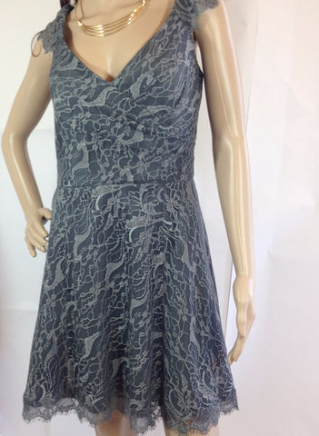 Jim Hjelm 'Meet me in town' grey lace dress