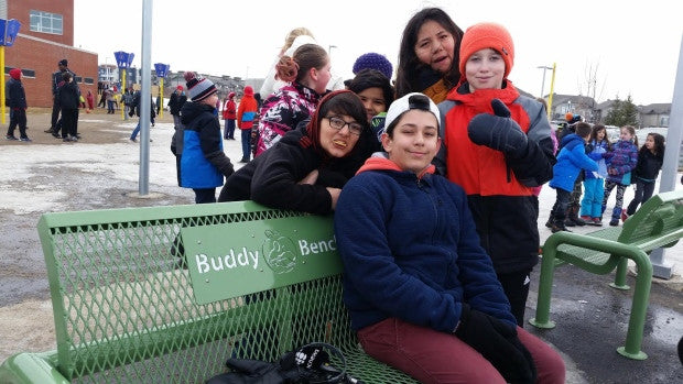 Buddy bench a big hit at Saskatoon's Willowgrove School
