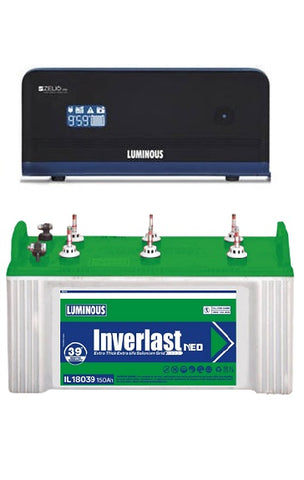 Sine Wave Inverter and Flat Plate Battery