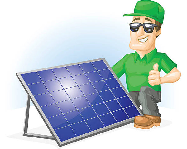 installing solar panels on a flat roof