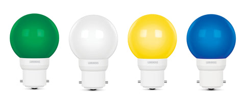 Luminous 0.5 Watt LED LAMP Multicolor(Pack of 4) - Luminous eShop