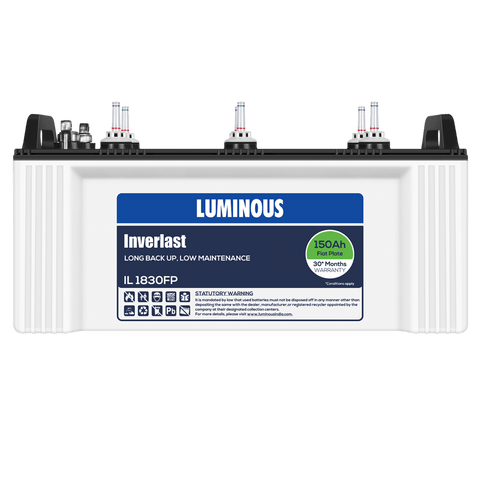 Luminous IL 1830FP 150Ah- 30* Months Warranty Flat Plate Battery