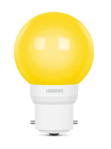 Luminous 0.5 Watt LED LAMP AMBER ECO B22D (Pack of 4, Yellow) - Luminous eShop