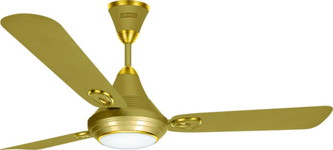 Ceiling Fan - Lumaire 1200mm Ceiling Fan With LED Light Silky Gold