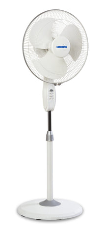 Fans - Luminous Mojo Plus 3 Blade High Speed 2100 RPM Pedestal Fan - White