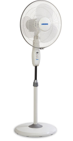 Pedestal Fan - Luminous Mojo Plus Adjustable 400 MM Pedestal Fan White
