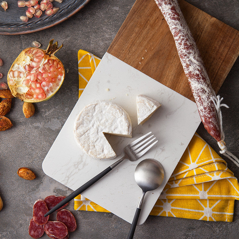 Marble and Wood Cheeseboard