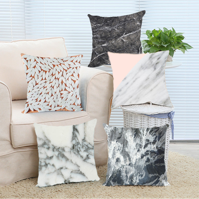 Marble Cushion Covers
