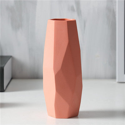 Colorful geometric vase