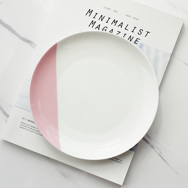 Pastel ceramic dishes