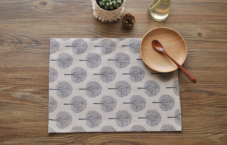 """Lets Plant a Tree"" placemat set"