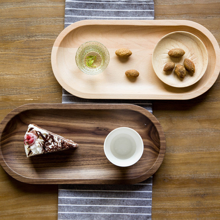 Walnut serving trays