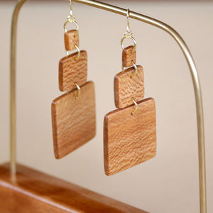 The Gabrielle Earrings in Sycamore