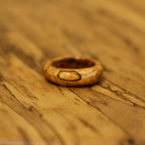 Classic Ring in Spalted Pecan