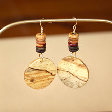 Load image into Gallery viewer, The Dakota Earrings in Spalted Pecan