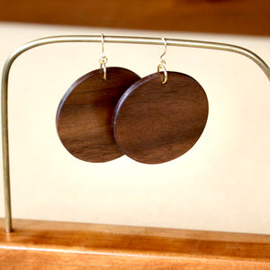 The Lundyn Earrings in Walnut