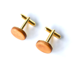 Cufflinks in Cherry