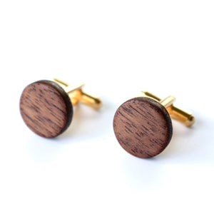Cufflinks in Walnut