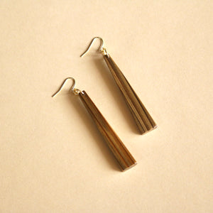 The Nina Earrings in Louisiana Sinker Cypress