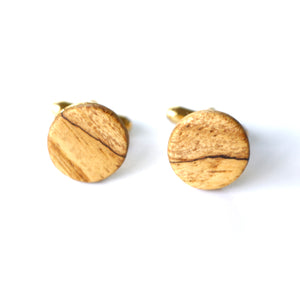 Cufflinks in Spalted Pecan
