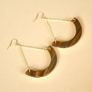 The Melanie Earrings in Louisiana Sinker Cypress