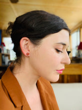 Load image into Gallery viewer, Circle Stud Earrings in Cedar