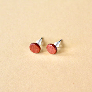 Circle Stud Earrings in Cedar