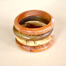 Load image into Gallery viewer, Classic Bangle in Spalted Pecan